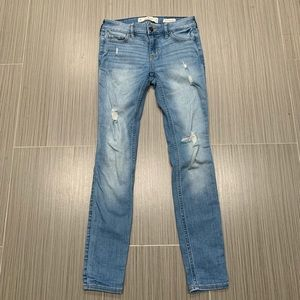 Hollister Low Rise Distressed Skinny Jeans